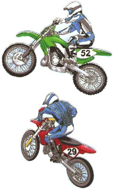 MotoCross Riders - Iron On Fabric Appliques