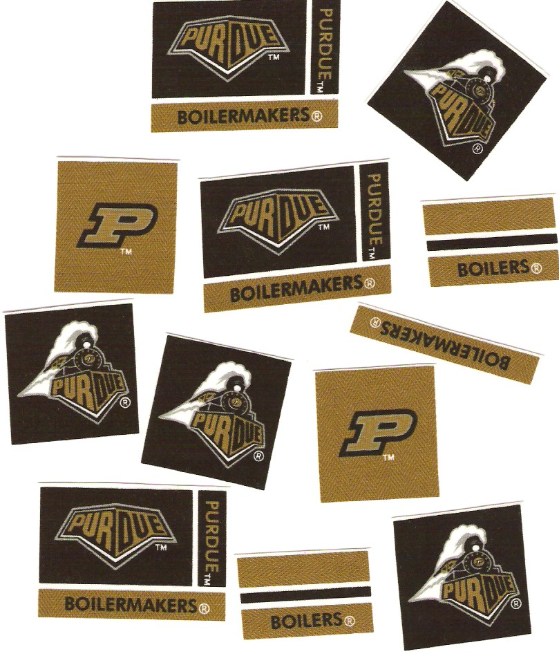 Purdue University Boilermakers - Iron On Fabric Appliques