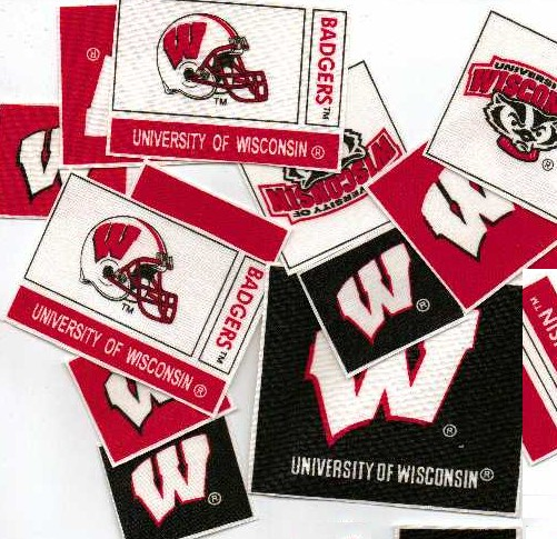 University of Wisconsin Badgers - Iron On Fabric Appliques